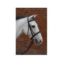 Hy Padded Cavesson Bridle with Rubber Grip Reins